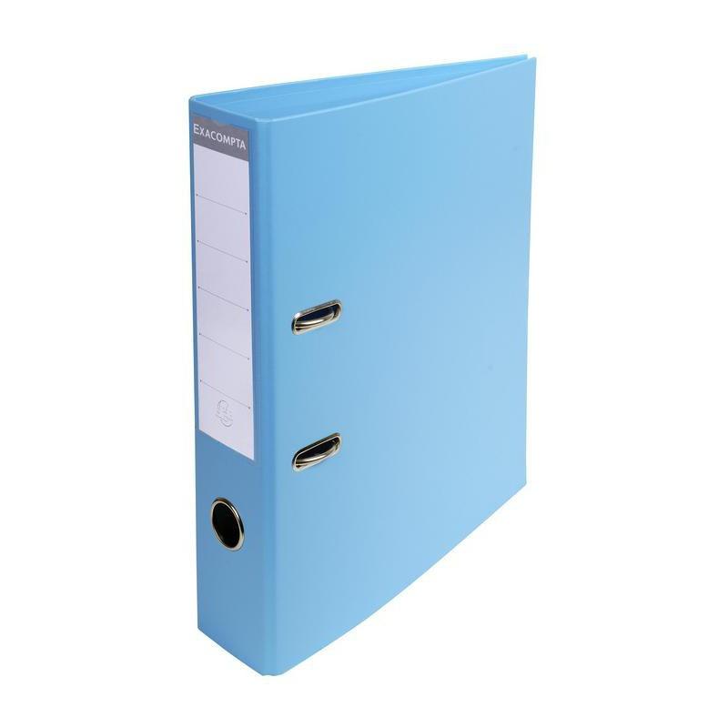 Classeur à levier PVC A4 dos de 70mm / Bleu clair