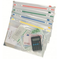 Porte documents Snopake Zippa BAG A5 / Transparent