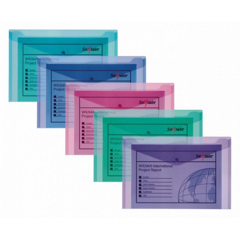 5x Pochettes de classement Snopake Polyfile A5 Electra