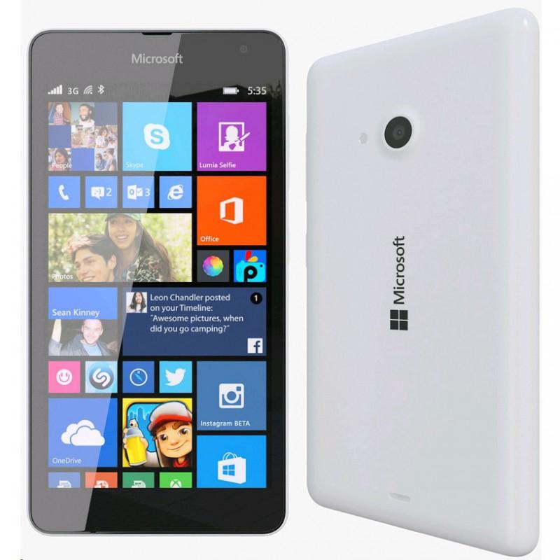 Téléphone Portable Microsoft Lumia 535 / Double SIM / Blanc + SIM Offerte