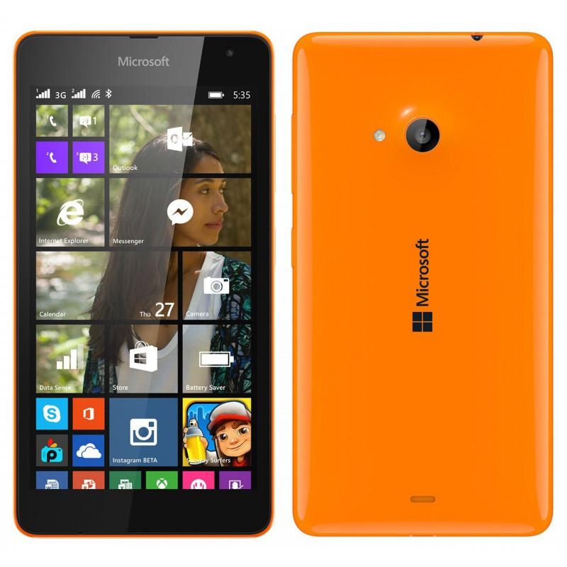 Téléphone Portable Microsoft Lumia 535 / Double SIM / Orangé + SIM Offerte