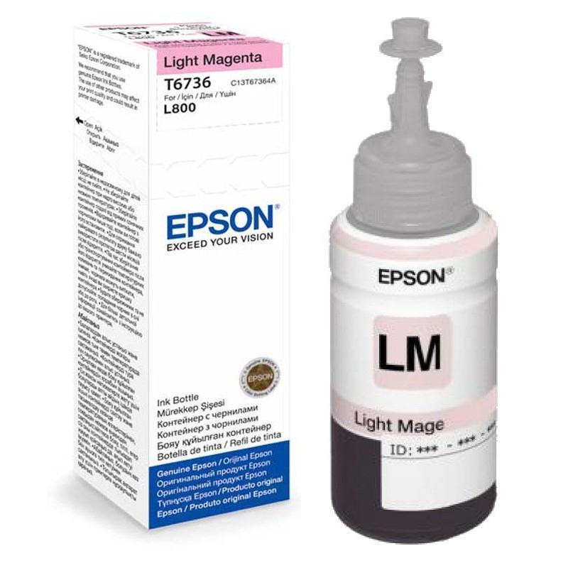 Bouteille d'encre Epson T6736 Light Magenta 70ml