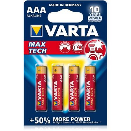 4x Piles Varta Max Tech LR03 BP4