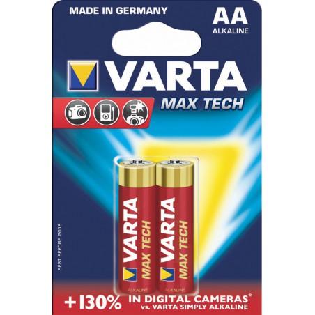 2x Piles Varta Max Tech LR06 BP2