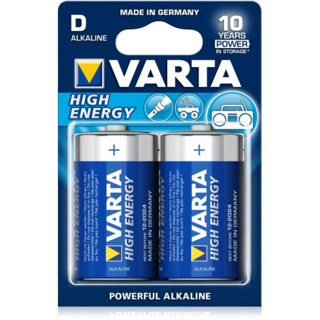 2x Piles D Varta High Energy LR20 BP2