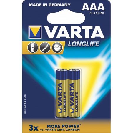 2x Piles AAA Varta LongLife LR03 BP2