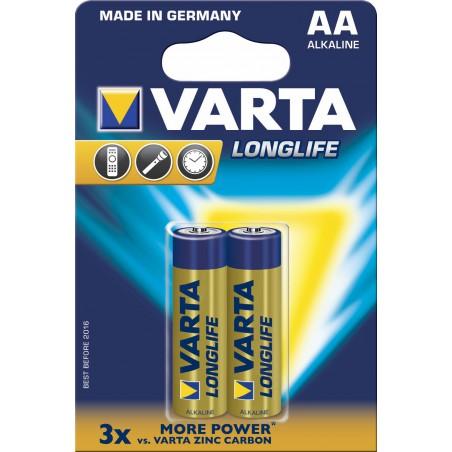 2x Piles AA Varta LongLife LR6 BP2