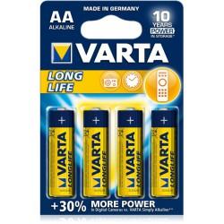 4x Piles AA Varta LongLife LR6 BP4