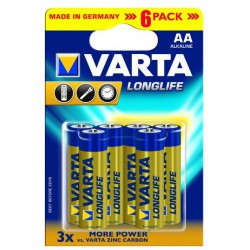 4x Piles AA Varta LongLife LR6 BP4 + 2 Piles offertes