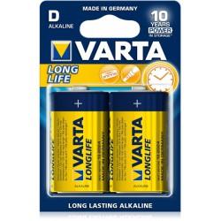 2x Piles D Varta LongLife LR20 BP2
