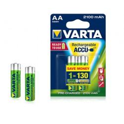 2x Piles Varta Rechargeable Accu AA 2100 mAh