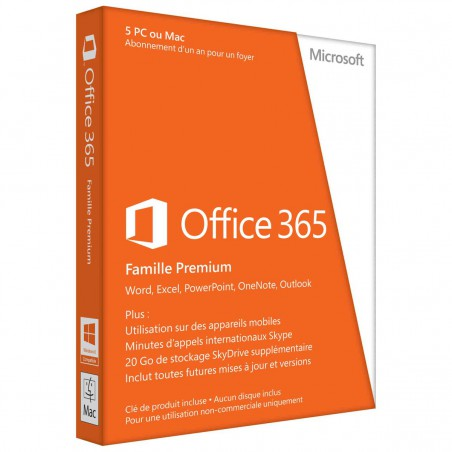 Microsoft Office 365 Famille Premium 5 PC
