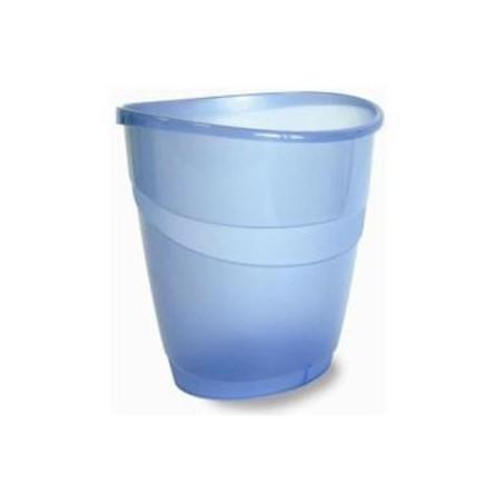 Corbeille à papier ARDA 16L / Bleu Transparent