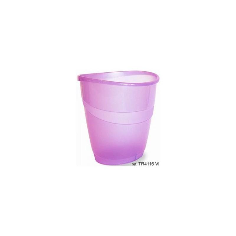 Corbeille à papier ARDA 16L / Violet Transparent