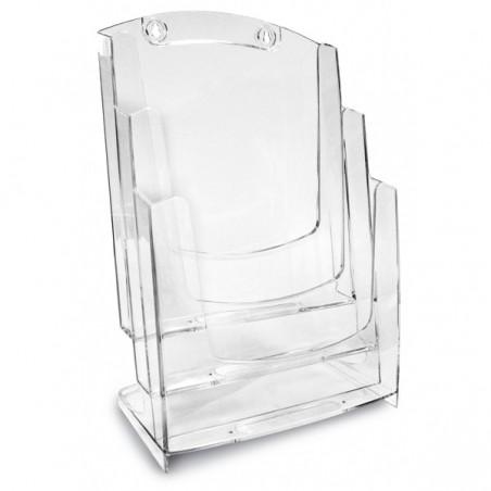 Porte Dépliants ARDA A4 / 3 Tiroirs / Cristal