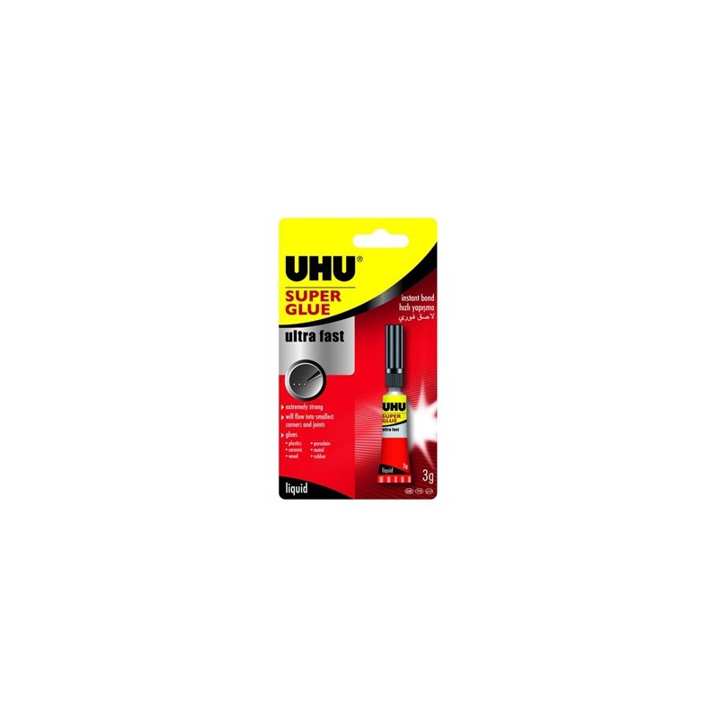 Colle Super Glue UHU sans solvant 3g