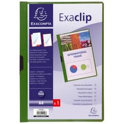 Chemise de présentation PVC ExaClip Dos 3mm - A4 / Vert
