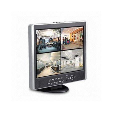 """Kit de surveillance DVR 15"""" LCD SecuMax L1507D4+4C7834SC"""