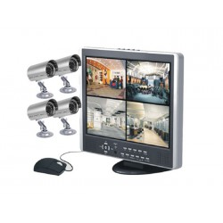 "Kit de surveillance DVR 15"" LCD SecuMax L1507D4+4C7834SC"