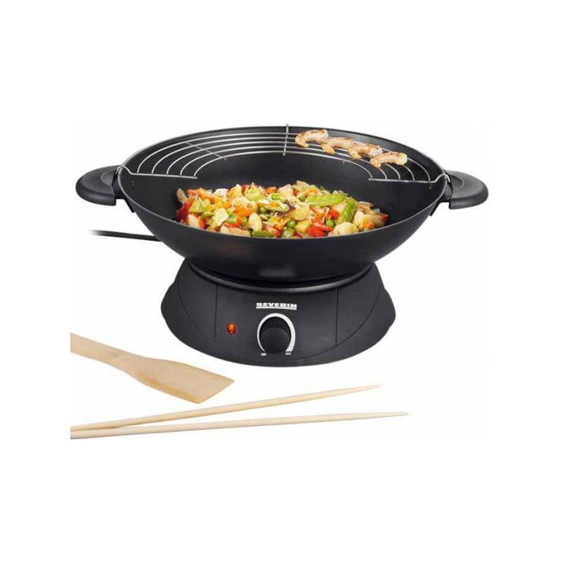 appareil de cuisson severin wok lectrique 1500w. Black Bedroom Furniture Sets. Home Design Ideas