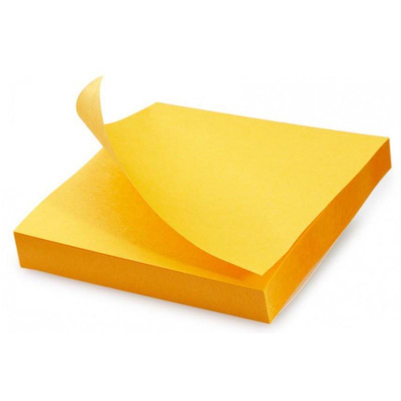 Bloc 100 feuilles notes repositionnables Fantastick 76.2 x 76.2 mm / Orangé