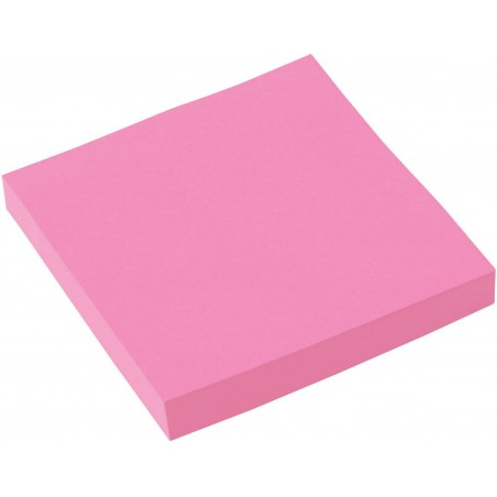 Bloc 100 feuilles notes repositionnables Fantastick 76.2 x 76.2 mm / Rose