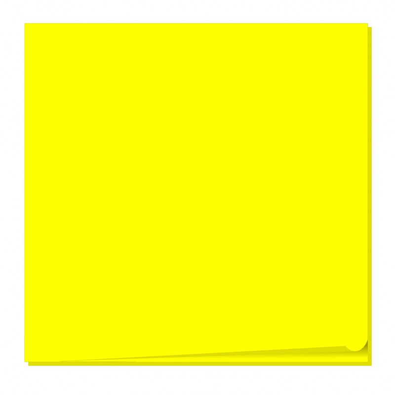 Bloc 100 feuilles notes repositionnables Fantastick 76.2 x 76.2 mm / Jaune