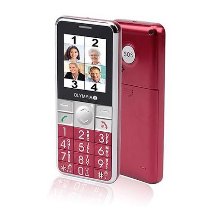 Téléphone Portable OLYMPIA Senior VIVA PLUS / Rouge