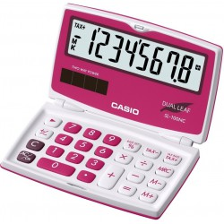 Calculatrice Casio SL-100NC-RD / Rose
