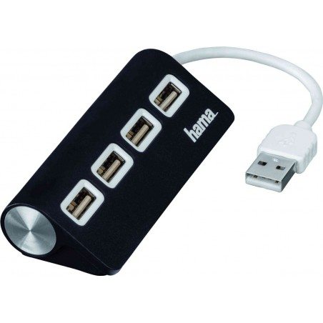Hub Hama 1:4 USB 2.0 / Noir