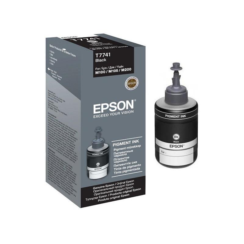 Bouteille d'encre Epson T7741 Noir 140ml