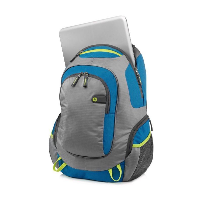 sac dos hp outdoor sport vert bleu. Black Bedroom Furniture Sets. Home Design Ideas