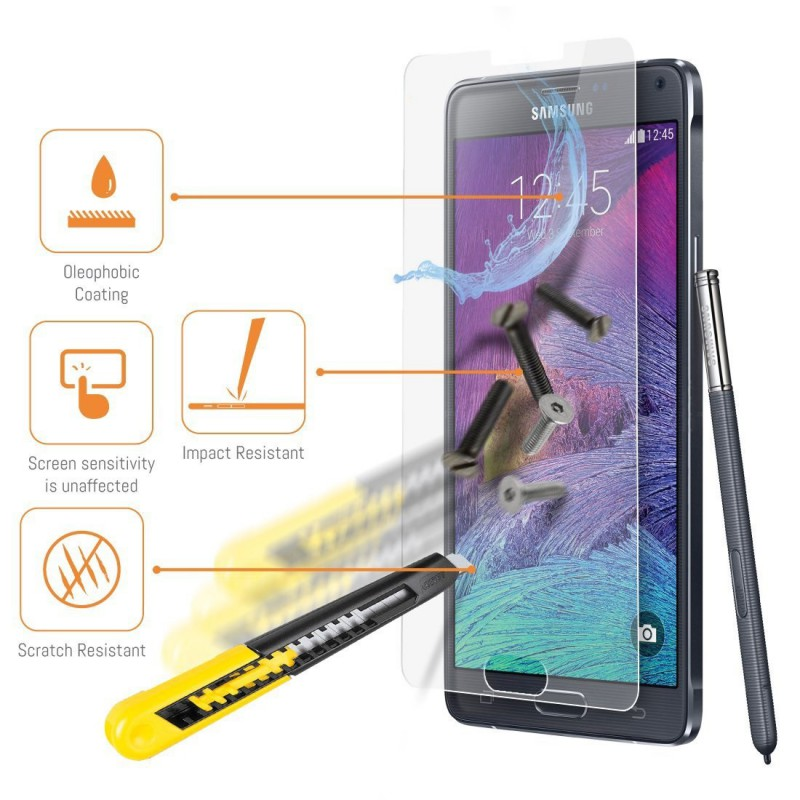 Protection cran verre tremp pour samsung galaxy note 4 for Photo ecran note 4