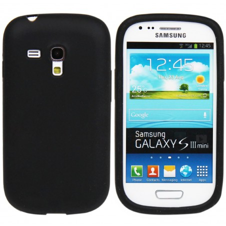 Etui en Silicone pour Samsung Galaxy S3 Mini / Noir