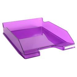 Corbeille à courrier EXACOMPTA - A4 / Violet Transparent