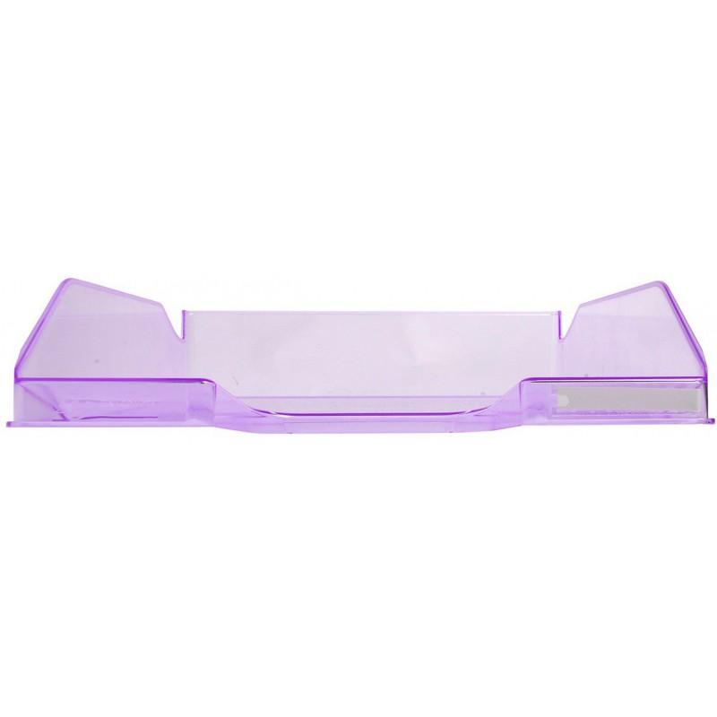 corbeille courrier exacompta a4 violet transparent. Black Bedroom Furniture Sets. Home Design Ideas