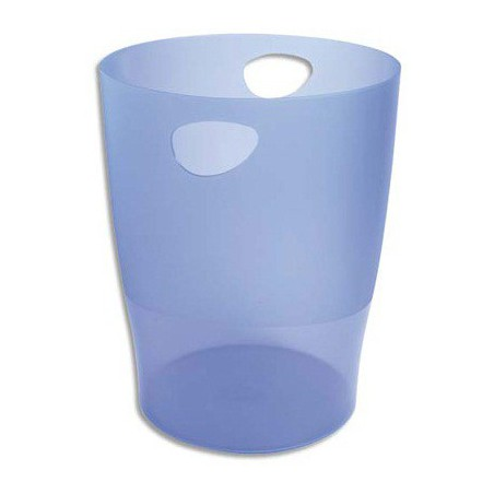 Corbeille à papier EXACOMPTA 15L / Bleu Transparent
