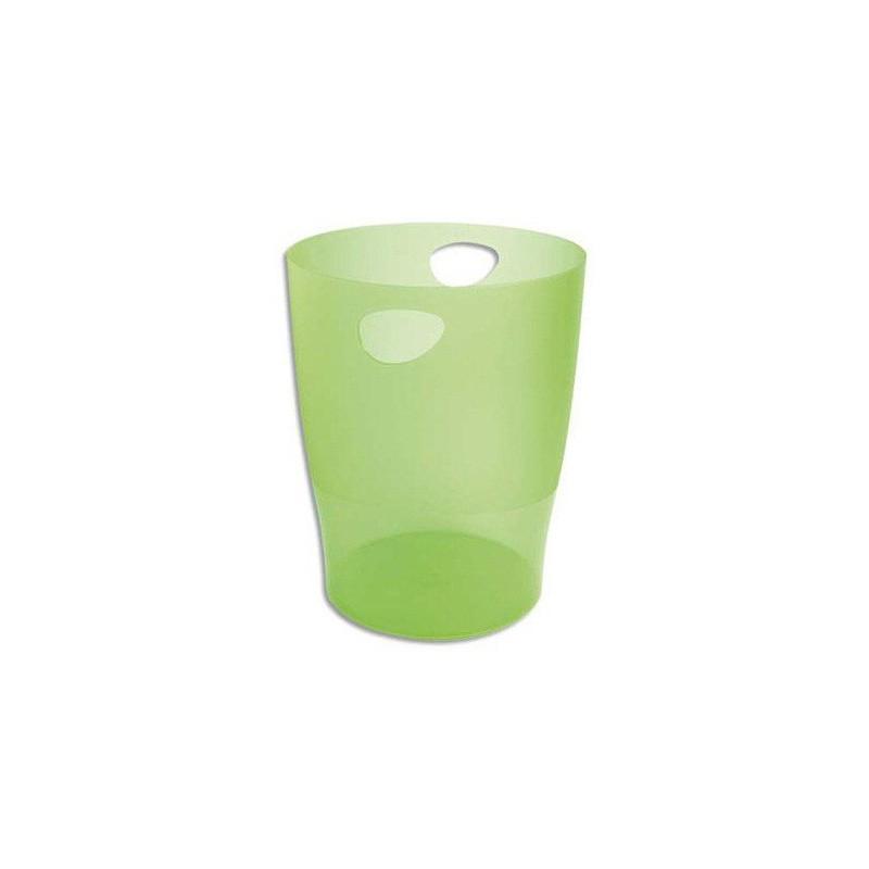 Corbeille à papier EXACOMPTA 15L / Vert Transparent