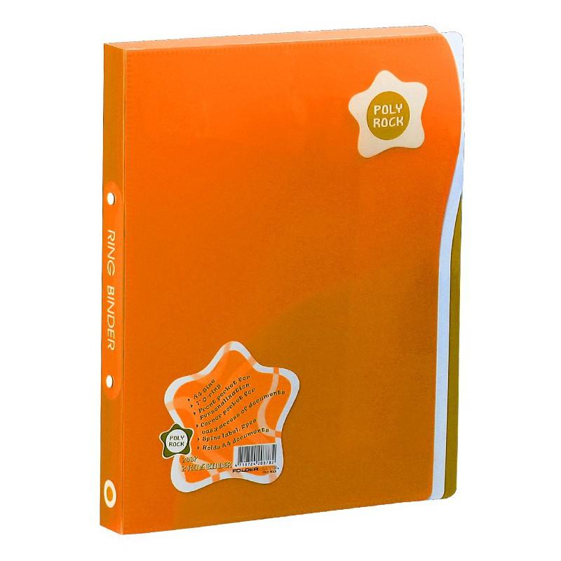 Classeur 4 anneaux A4 Foldermate / Orange