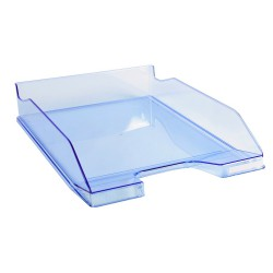 Corbeille à courrier EXACOMPTA COMBO 2 Classic / Bleu Transparent