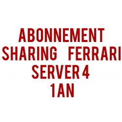 Abonnement Sharing Ferrari Server 4 / 1 an