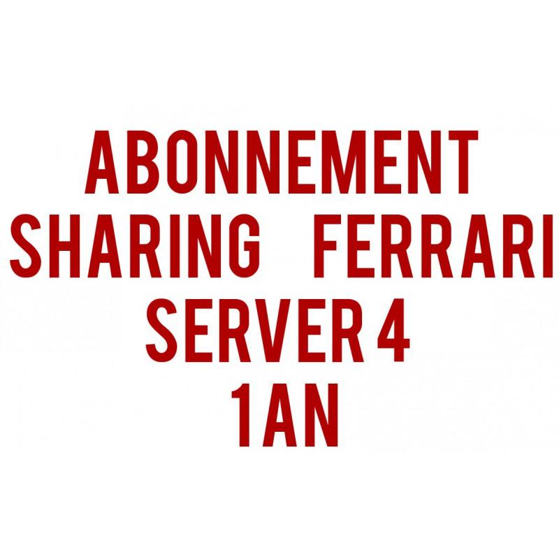 Abonnement Sharing Ferrari Server 4 / 1 an