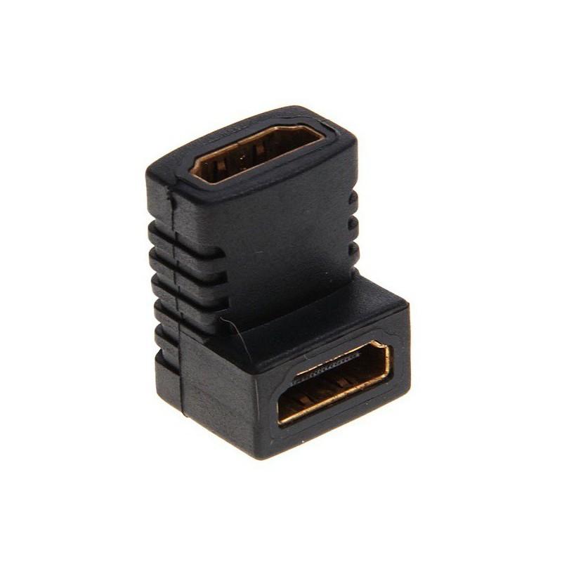 Adaptateur HDMI Femelle vers HDMI Femelle 90°