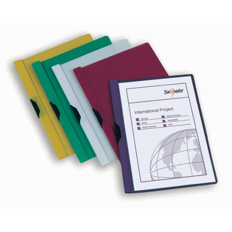 Porte documents Snopake ClipFile 4 A4 / Jaune