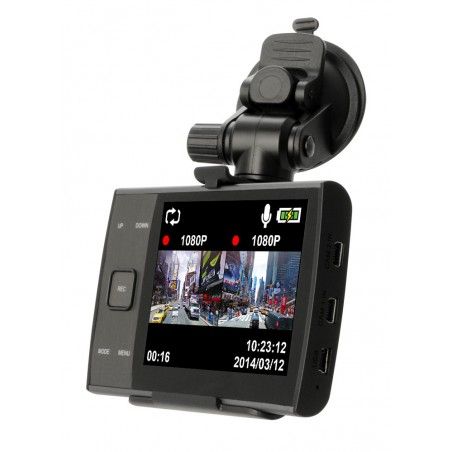 2x Caméras Automobiles Full HD iconBIT DVR QX DUO