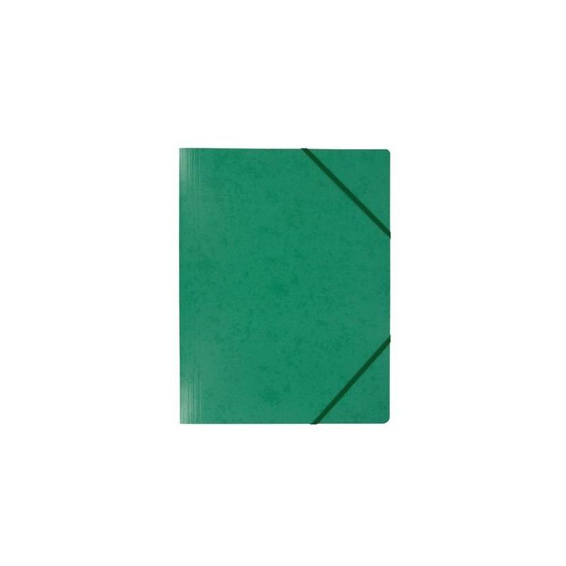 Chemise à élastique 3 rabats - A4 / Vert