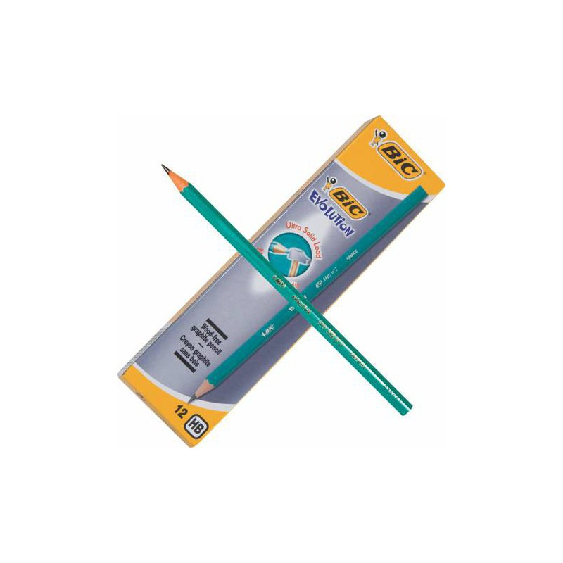 12x Crayons Graphites BIC HB
