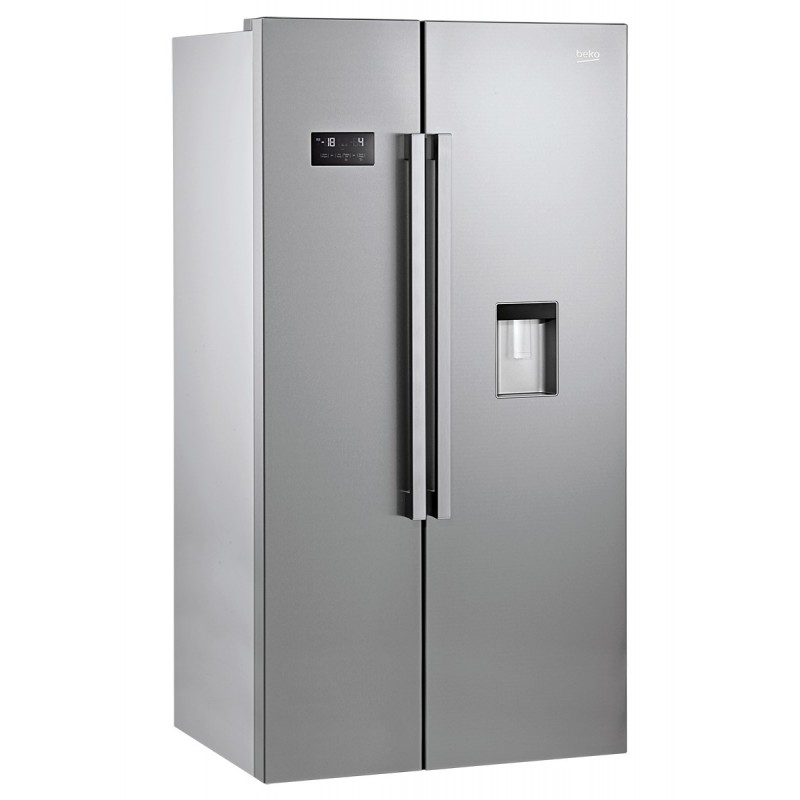 taille frigo americain rfrigrateur amricain beko l silver. Black Bedroom Furniture Sets. Home Design Ideas