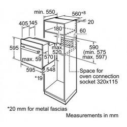 Four Electrique BOSCH 60cm / Inox