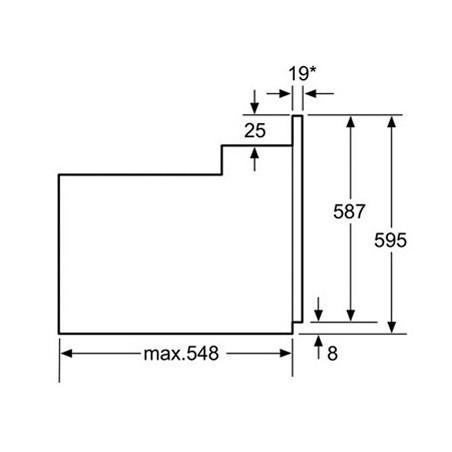 Four Electrique BOSCH avec afficheur / Inox